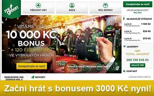 Získej 5000 Kč Casino Bonus u Mr Green