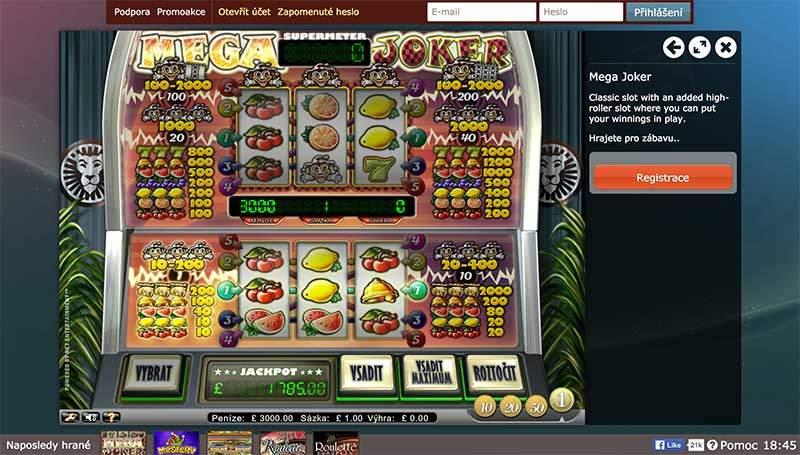 casino las vegas online mega joker