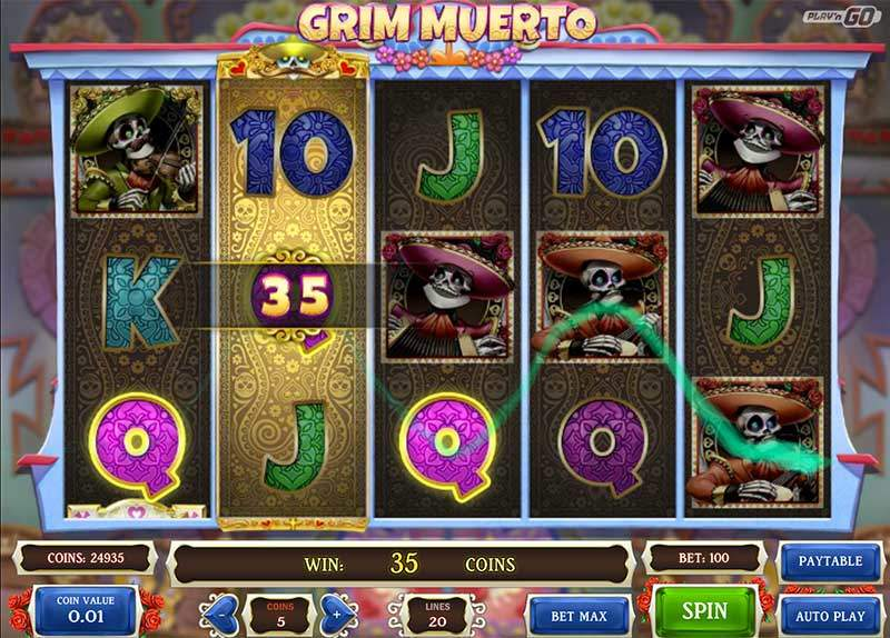 Recenze automatu: hrací automat Grim Muerto
