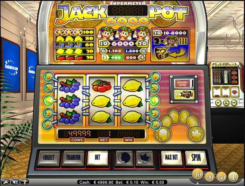 Recenze automatu: výherní automat Jackpot 6000