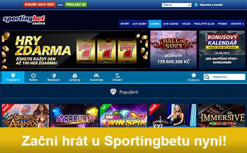 Casino Bonus 7500Kč u Sportingbetu