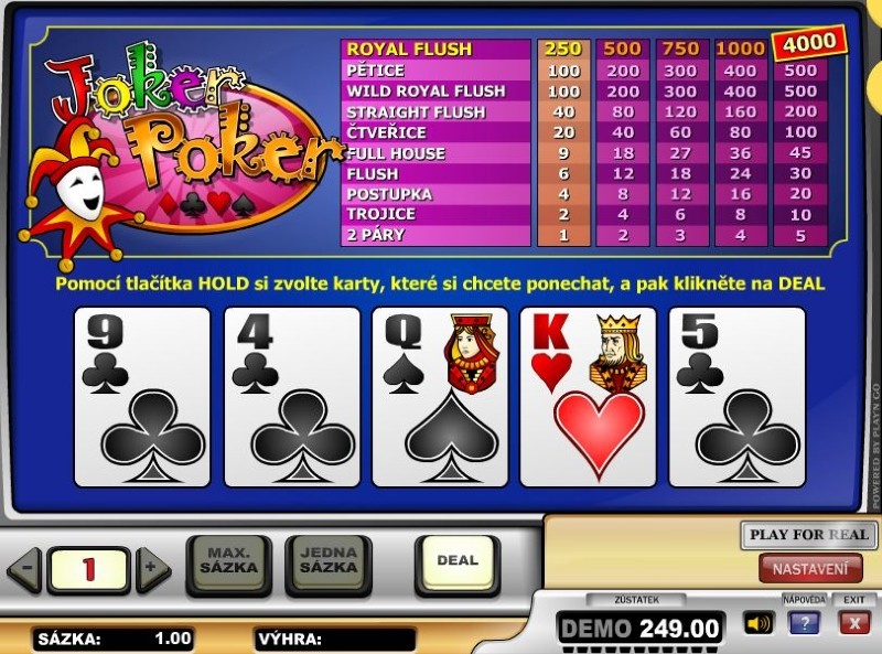 Joker Poker u Bohemia Casino