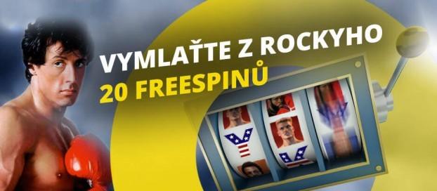 Vymlaťte z Rockyho 20 free spinů