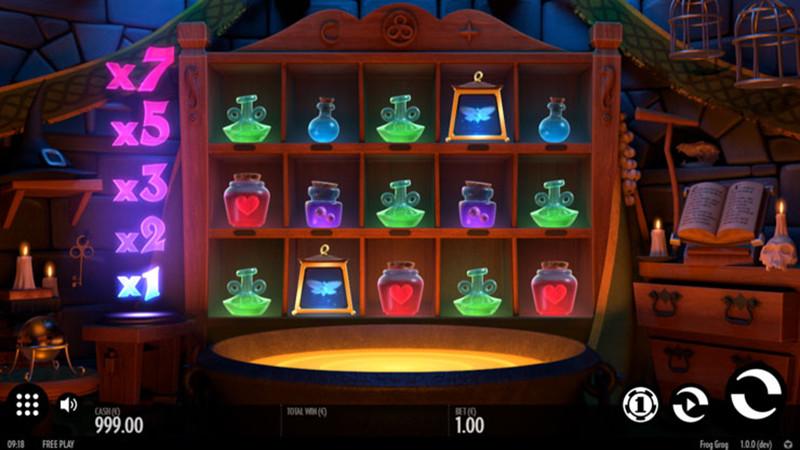 Výherní automat Frog Grog
