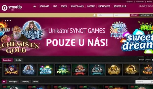 SynotTip Games hrací automaty