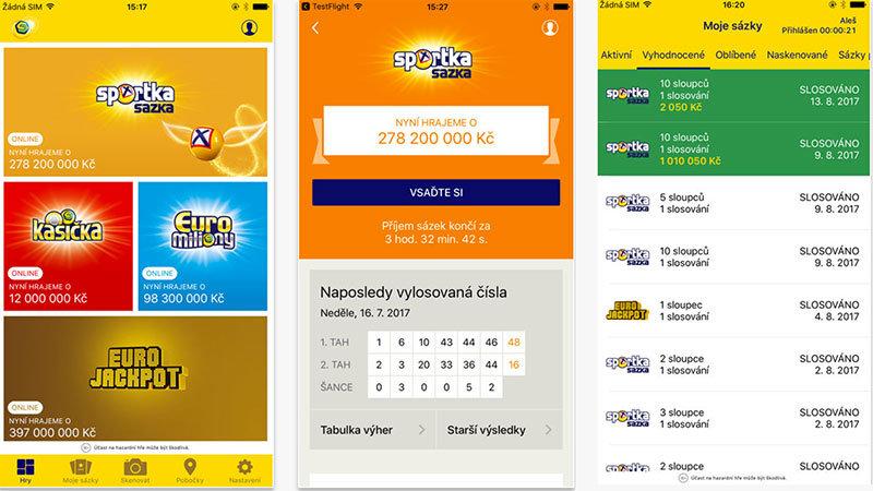 Mobilní aplikace Sazka sportka