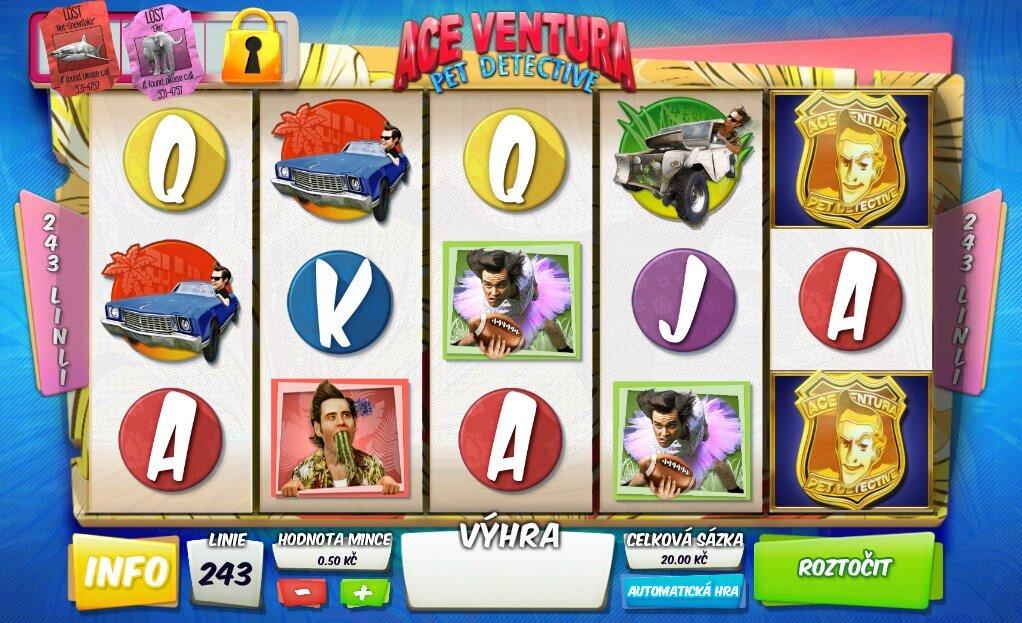 Recenze – online hrací automat Ace Ventura