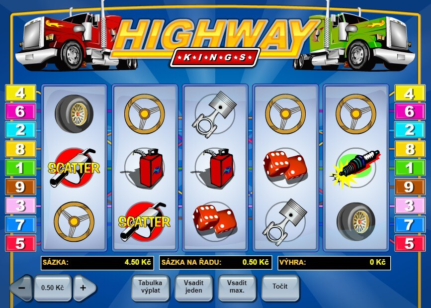 Výherní automaty online – Highway Kings