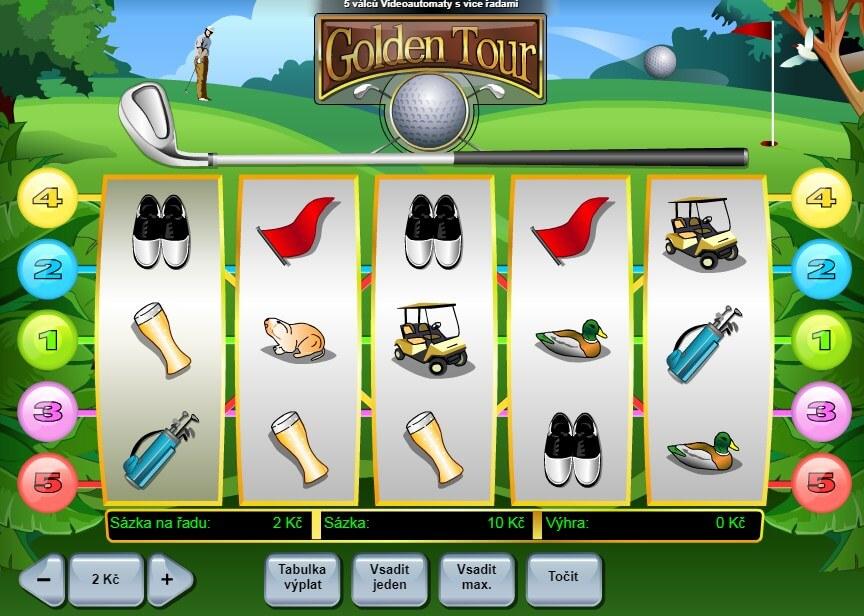 Online hrací automat Golden Tour